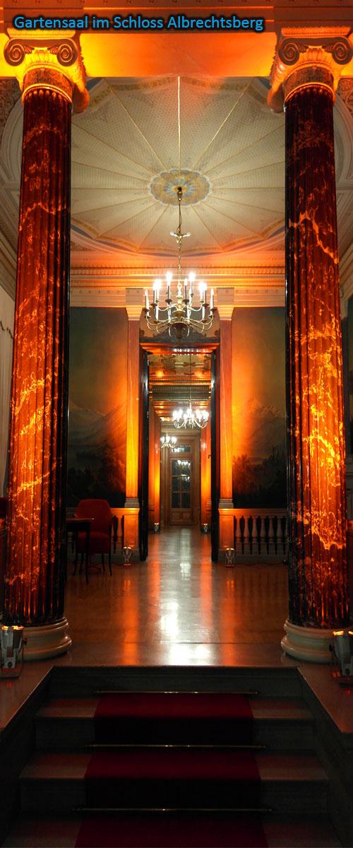 Schloss Albrechtsberg Gartensaal spotlightmusic