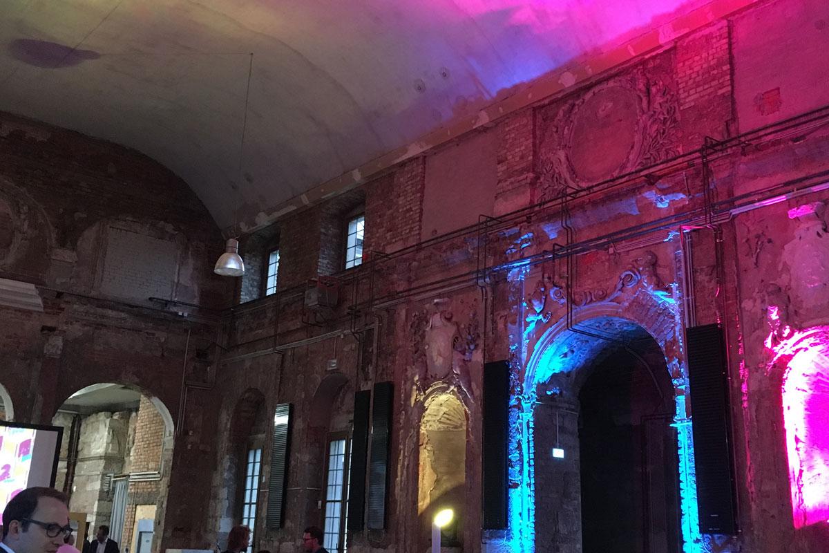 Architekturpreisverleihung Palais Großer Garten Licht Spotlight Music